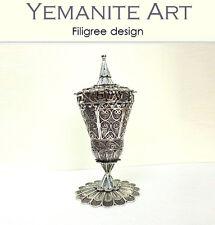 Sterling silver Besamim for Havdala (Spice Box) Filigree Artisan, Yemenite Art