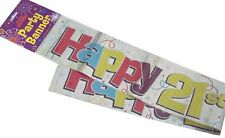 Fun House HAPPY 21st BIRTHDAY 21 Today Holographic Banner Party Decoration 12 Ft