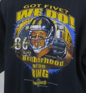Pittsburgh Steelers Hines Ward Brotherhood Rings Got 5 We Do 2006 Tshirt  2XL