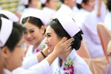 Nurse Hat Traditional Authentic White Pigeon Cap Head Memory Uniform Costum D621