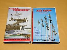 AIRPLANE 2 1986 WORLD AVIATION VHS VIDEOS P-47 THUNDERBOLT MOFFETT NAVAL AIR
