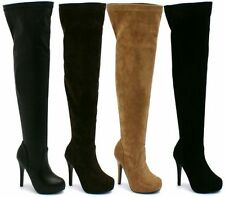 Stiletto Leather Over Knee Boots for Women