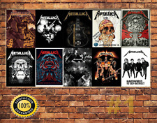 Job Lot 10 x METAL TIN SIGN WALL PLAQUE METALLICA  COLLECTION #1