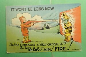 DR WHO 1972 ADVANCE IN ON WWII PATRIOTIC COMIC POSTCARD  g06795