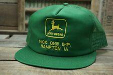 Vintage JOHN DEERE Mesh Snapback Trucker Cap Hat LOUISVILLE MFG CO Made In USA