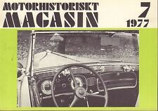 Motorhistoriskt Magasin Swedish Car Magazine 7 1977 Duesenburg 040317nonDBE