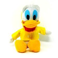 Disney Vintage Donald Duck 9 Inch Plush with Yellow Vinyl Raincoat