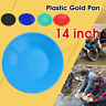 🇦🇺 Gold Pan 14 inch Black Plastic Gem Fossicking Panning Prospecting Detector