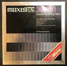 """Reel To Reel Tape 10.5 inch Metal MAXELL UD 35-180 R2R 1/4"""" For Professional Use"""