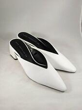 Zara V Vamp White Mules Size 36