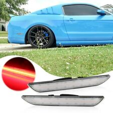 Clear Lens LED Side Marker Light Red Parking Lamp for 2015-2019 Ford Mustang
