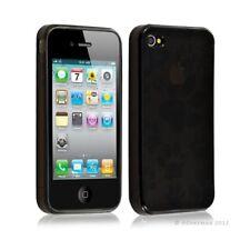 Housse étui coque en gel pour Apple Iphone 4/4S motif patte de chien couleur noi