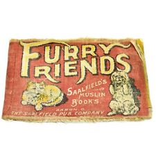 Antique Furry Friends Saalfield's Muslin Children's Book Akron Ohio