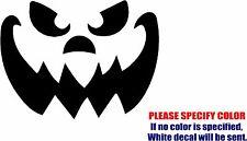"Jack O Lantern Face Graphic Die Cut decal sticker Car Truck Boat Window 10"""