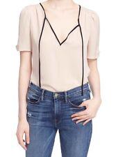 JOIE Split Neck Silk Blouse Size S