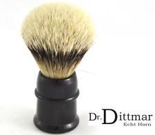 25 mm GROßER Rasierpinsel PREMIUM Silberspitz Dachshaar HORN Dr. Dittmar GERMANY