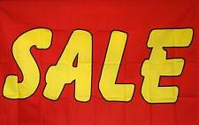 Sale Red And Yellow Flag 3' X 5' Deluxe Indoor Outdoor Business Banner