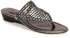 Vince Camuto Mombo Women US 5.5 Gray Thong Sandal Pre Owned 1134