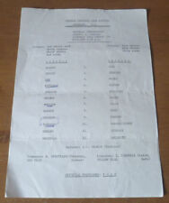 Arsenal Home Team Written - on Football Programmes