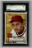 1952 Topps Baseball #158 Eddie Waitkus - SGC 5 EX