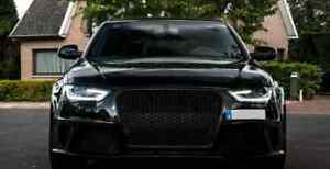 Audi A4/S4 (B8.5) RS4 Style Gloss Black Honeycomb Front Grille