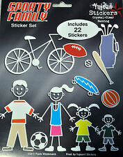 My Sporty Family Car Sticker Set Includes 22 Decals