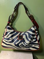 Dooney & Bourke Zebra Black, White & Red, Medium Leather Shoulder Bag