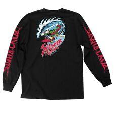 Santa Cruz Keith Meek WAVE SLASHER LONG SLEEVE Skateboard Shirt BLACK XXL
