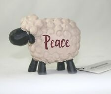 Blossom Bucket Folk Art Christmas Figure Sheep Peace New