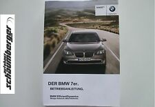 BMW Betriebsanleitung  Deutschland 7er F01 F02  Limousine MJ 2012  01402608060