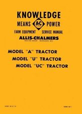 Allis Chalmers Model A U Uc Tractor Service Manual