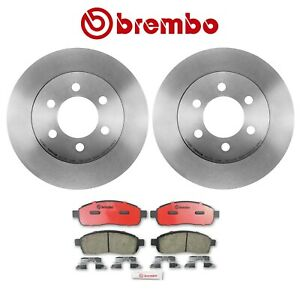 For Ford F-150 2004 4WD Front Disc Brake Rotors and Pad Set Kit Brembo Original