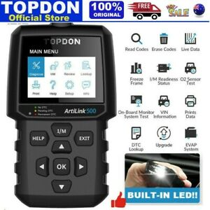 TOPDON Auto Code Reader OBD2 Scanner Car Check Engine Fault Diagnostic Scan Tool