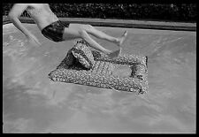Neal White Photo, Man Leaping into a Pool, 1970s