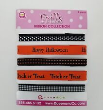 Halloween Ribbon Assortment 5 Yards Orange Black Scrapbooking Handmade Cards