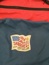2 Vtg Boy Scout Duffle Bags Small Large 1995 Jamboree Holland Blue Red Nylon