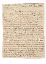 RARE 1793 LETTER 6 PG REV SAMUEL MEDLEY LIVERPOOL ENGLAND 2 USA ARTIST SONS WORK