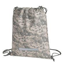 HEAVY DUTY Digital Camo Drawstring Backpack, Military Army Sack