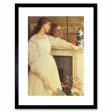 Painting Whistler Symphony White Two Framed Print 12x16 Inch