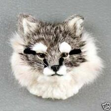*Grey Silver Fox Furllike Magnet! (Handcrafted & Hand painted.) cOllectable Gift