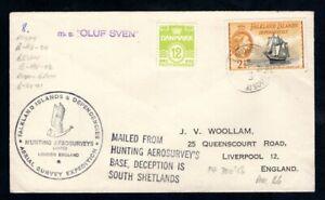 Falkland Island Dependencies - 1956 Hunting Aerosurveys Base MS Oluf Sven Cover