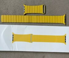 Apple Watch Band Leather Loop Meyer Lemon Yellow 44mm L 100% AUTHENTIC OEM