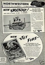 1956 PAPER AD Toy Boxing Knockout Game Jet Fire Battle Drive Ur Self