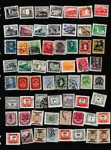 #3067=Hungary mixed selection of different stamps