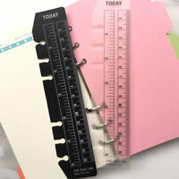 A5 A6 A7 2pcs Black White Bookmark Rulers Spiral Notebook Quick Page Finder  NT