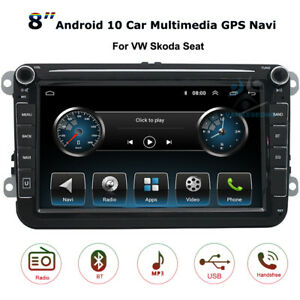 """8""""HD Android 10 Head Unit GPS Navi WiFi BT For Skoda Roomster Yeti Seat Alhambra"""