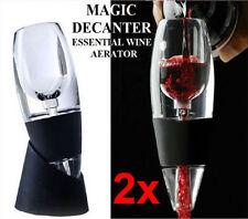 2x Magic Decanter Essential Red Wine Aerator & Sediment Filter