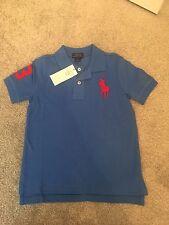 Ralph Lauren Chicos Azul Camisa Polo Talla 5 años ** L @ @ K ** BNWT
