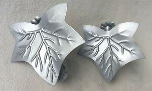 2 x Gardinenklammern Blatt - Donauklammern Raffklammern Gardinenklammer silbern