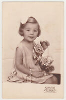 Cute Pretty Little Girl Kid Child Angel Face 1930s Vintage Old Photo